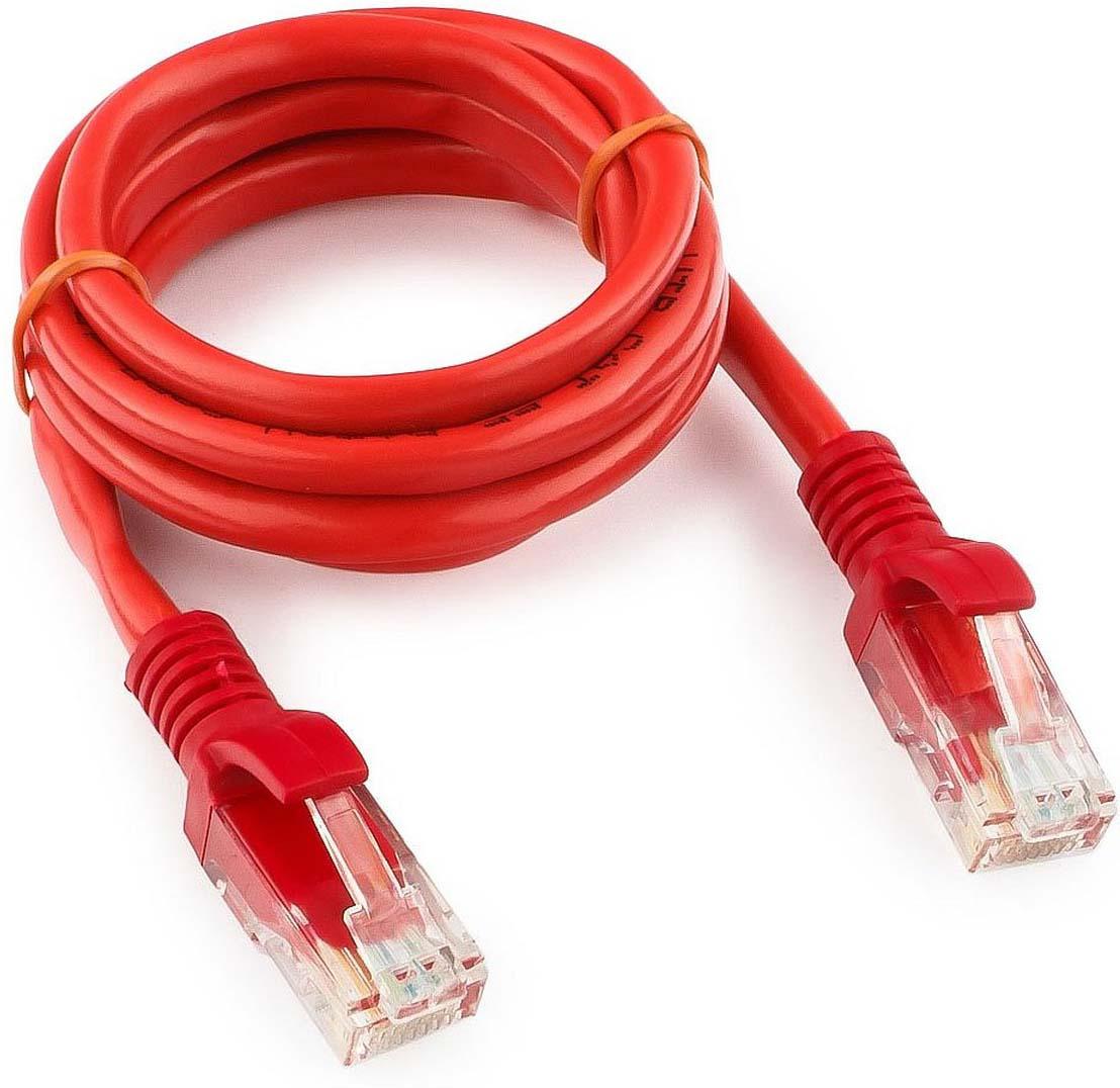 Кабель патч-корд UTP Cablexpert RJ-45, 1 м, PP12-1M/R, красный кабель патч корд utp cablexpert rj 45 5 м pp12 5m b синий