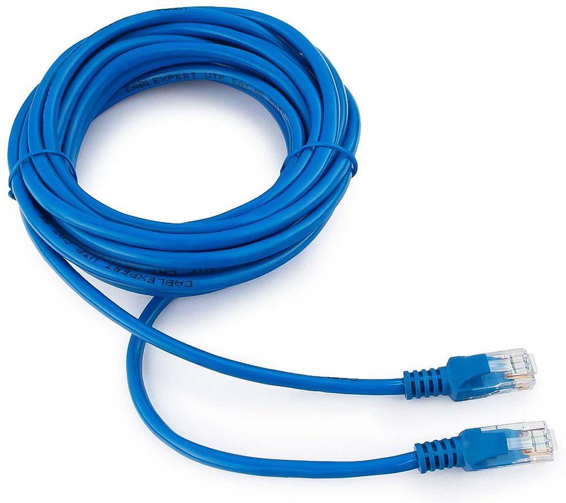 Кабель патч-корд UTP Cablexpert RJ-45, 5 м, PP12-5M/B, синий кабель патч корд utp cablexpert rj 45 5 м pp12 5m b синий
