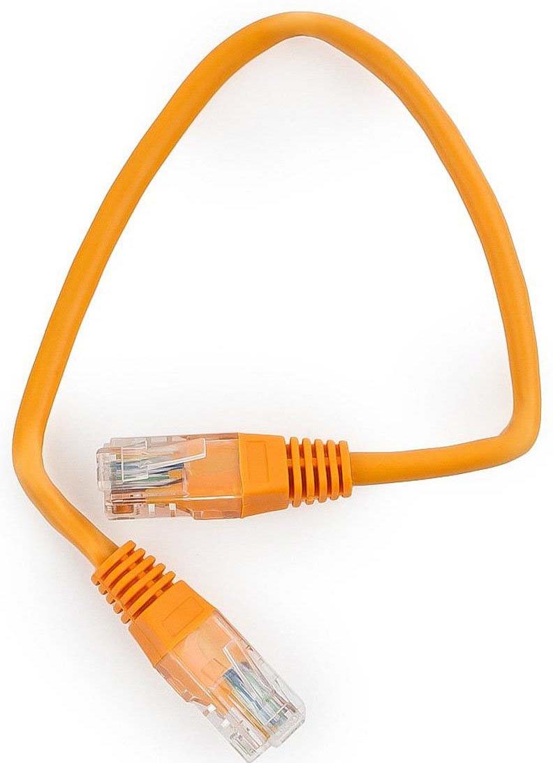 Кабель патч-корд UTP Cablexpert RJ-45, 0,25 м, PP12-0.25M/O, оранжевый кабель патч корд utp cablexpert rj 45 5 м pp12 5m b синий