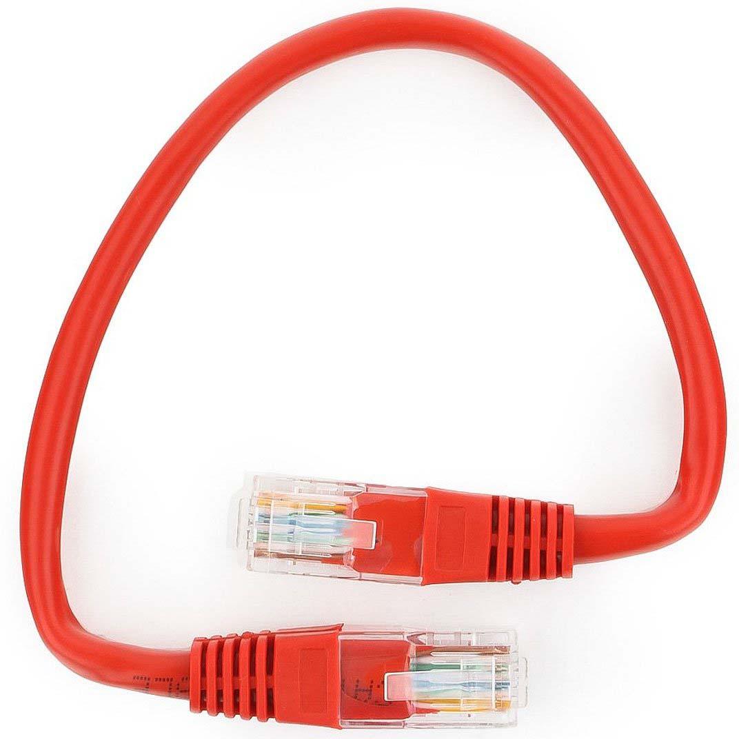 Кабель патч-корд UTP Cablexpert RJ-45, 0,25 м, PP12-0.25M/R, красный кабель патч корд utp cablexpert rj 45 5 м pp12 5m b синий