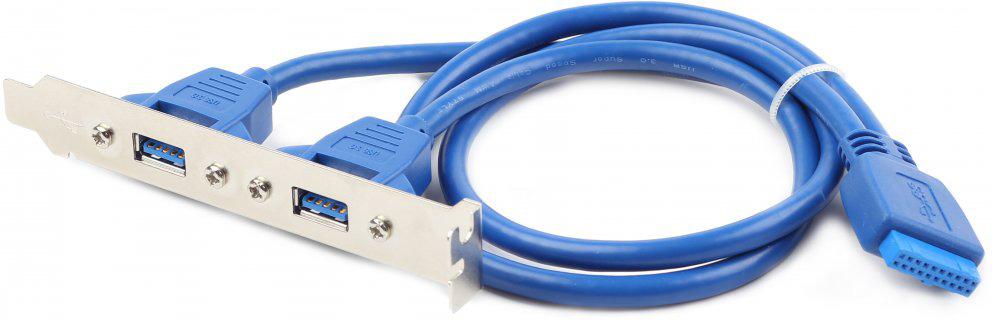 Кабель Cablexpert USB 2.0, CC-USB3-RECEPTACLE, синий
