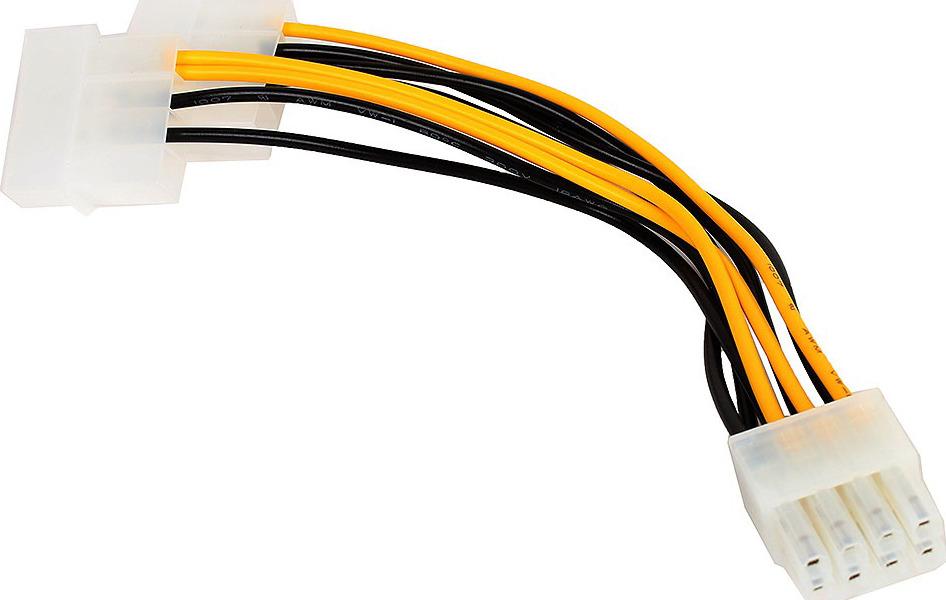 Фото - Разветвитель питания Cablexpert, 2хMolex->PCI-Express 8pin, для подключения в/к PCI-Е (8pin), CC-PSU-81, черный переходник для питания molex sata pci express 8pin