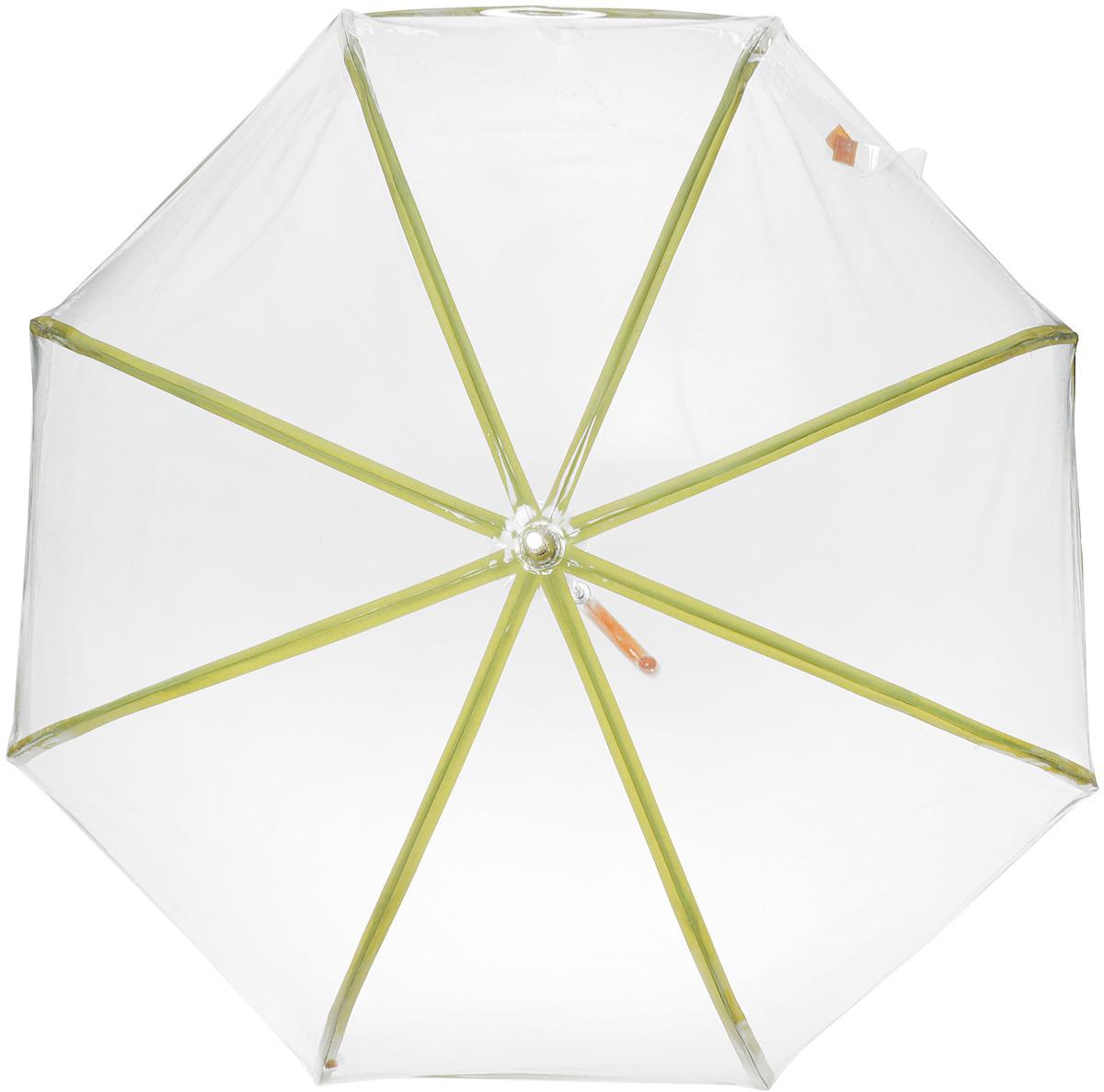 Зонт-трость женский M&P, полуавтомат, цвет: зеленый. 4880-3 зонты