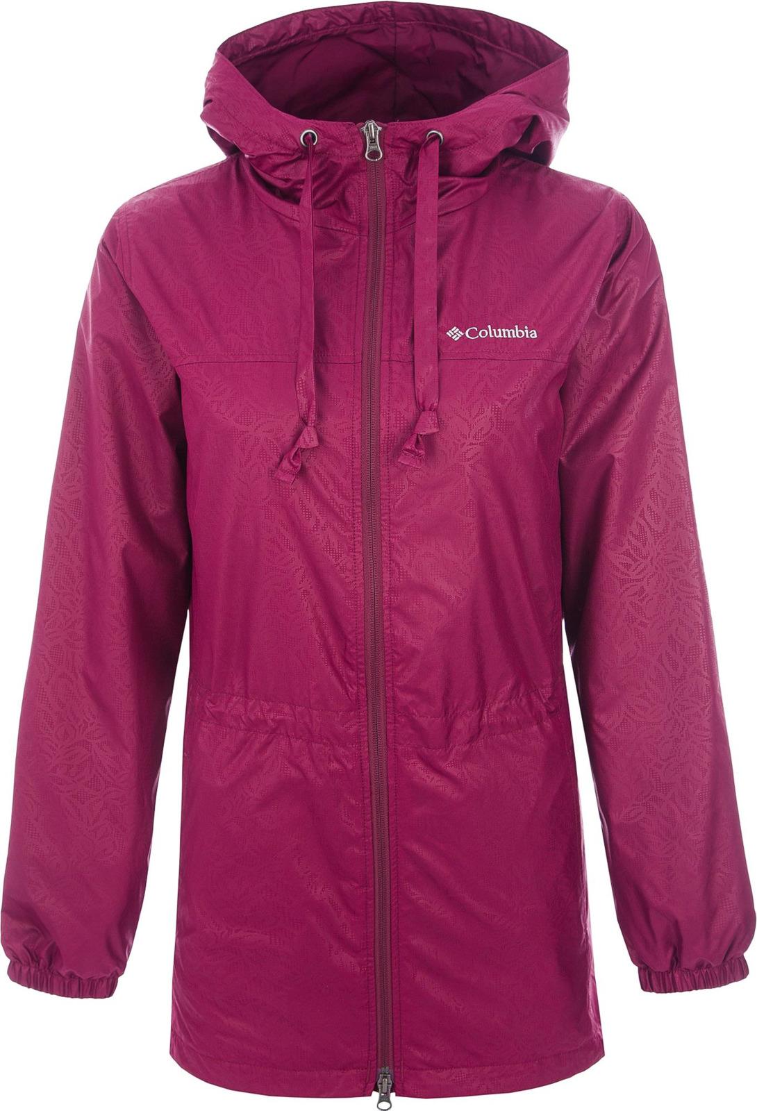Ветровка Columbia Auroras Wake III Long Rain Jacket плащ женский columbia pardon my trench rain jacket цвет серый 1839841 027 размер xs 42