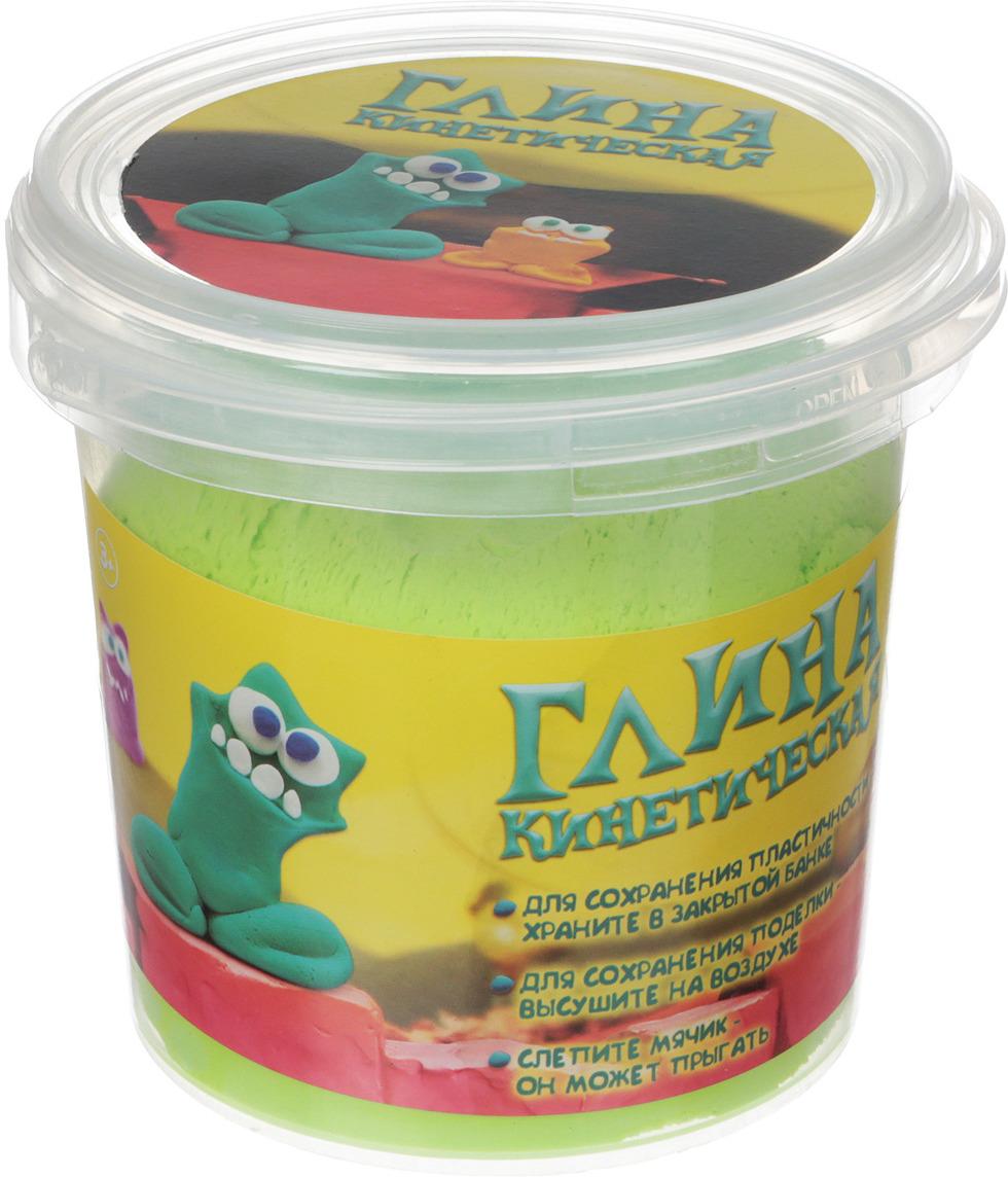 Масса для лепки 1TOY Кинетическая глина, Т11353а, зеленый, 200 г кинетическая глина 1toy кинетическая глина синяя 230г т11356