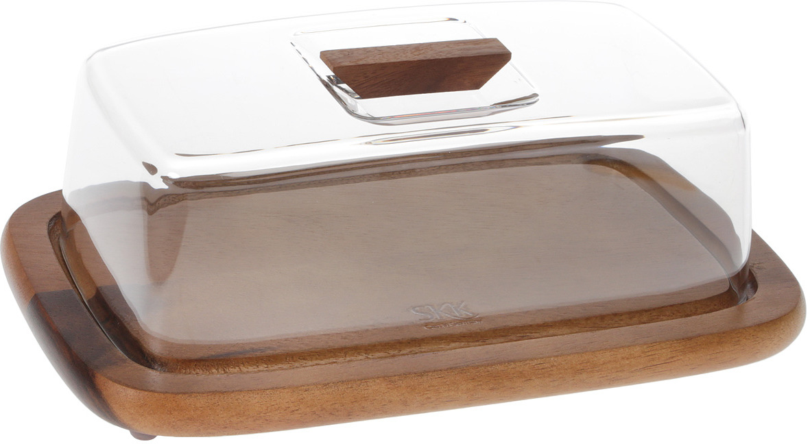Разделочная доска SKK, ACA-910, темно-коричневый, 30,5 х 17,5 х 12 см доска разделочная для пиццы америка цвет коричневый 32 х 32 х 1 5 см