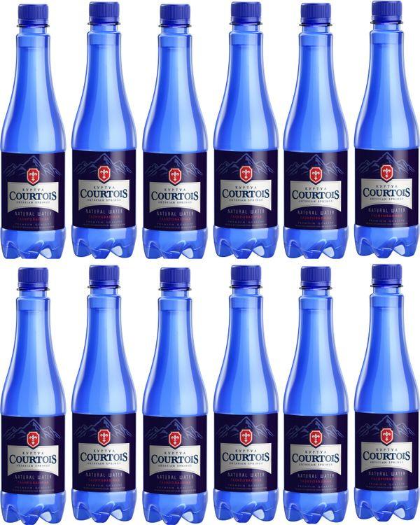 Вода Courtois, питьевая газированная, 12 шт по 500 мл