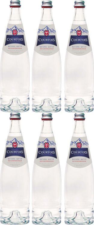 """Вода Courtois """"питьевая негазированная"""", 6 шт по 0,75 л"""