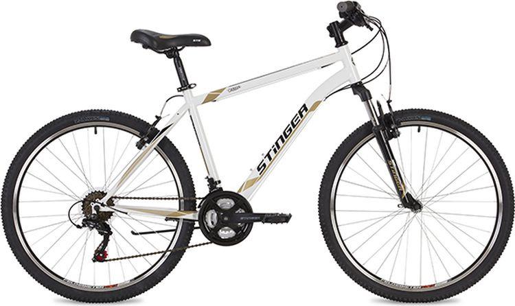 Велосипед Stinger Caiman, белый, 26, рама 16