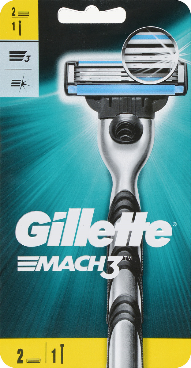 Бритва Gillette Mach 3, 2 сменные кассеты