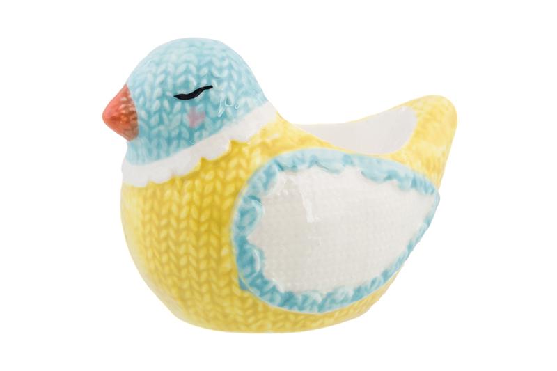 Подставка для яйца Elan Gallery Птичка, белый, желтый, голубой подставка под яйцо карамба котенок