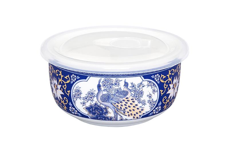 Салатник Elan Gallery Павлин синий, белый, синий соусник elan gallery листок 15 7 5 2 5 см 2 секции