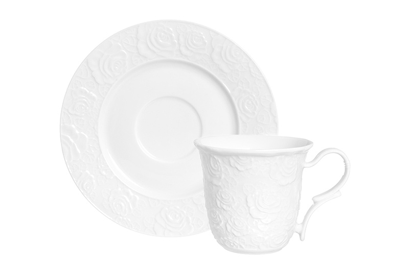 Чайная пара 2 предмета 210 мл Elan Gallery Белые розы чайная пара elan gallery белые розы