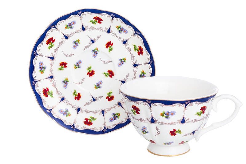Фото - Чайная пара 2 предмета 250 мл Elan Gallery Цветочек чашка на ножке [супермаркет] jingdong геб scybe фил приблизительно круглая чашка установлена в вертикальном положении стеклянной чашки 290мла 6 z