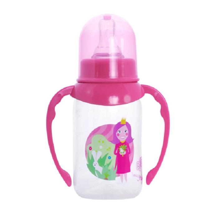 Бутылочка для кормления ПОМА 4110р розовый бутылочки пома для кормления с ручками 250 мл