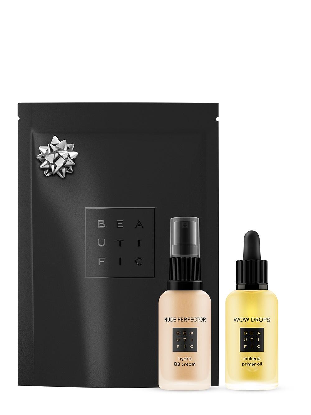 Набор декоративной косметики BEAUTIFIC Для идеального макияжа WOW Makeup: масло-праймер и BB-крем №2 (теплый бежевый), 300