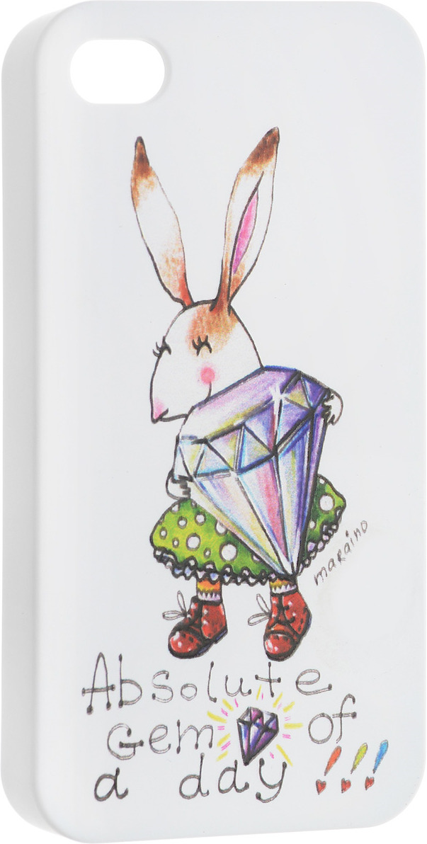 цена на Чехол для сотового телефона Volume In Style Заяц с бриллиантом для iPhone 4/4S, VSIPH003