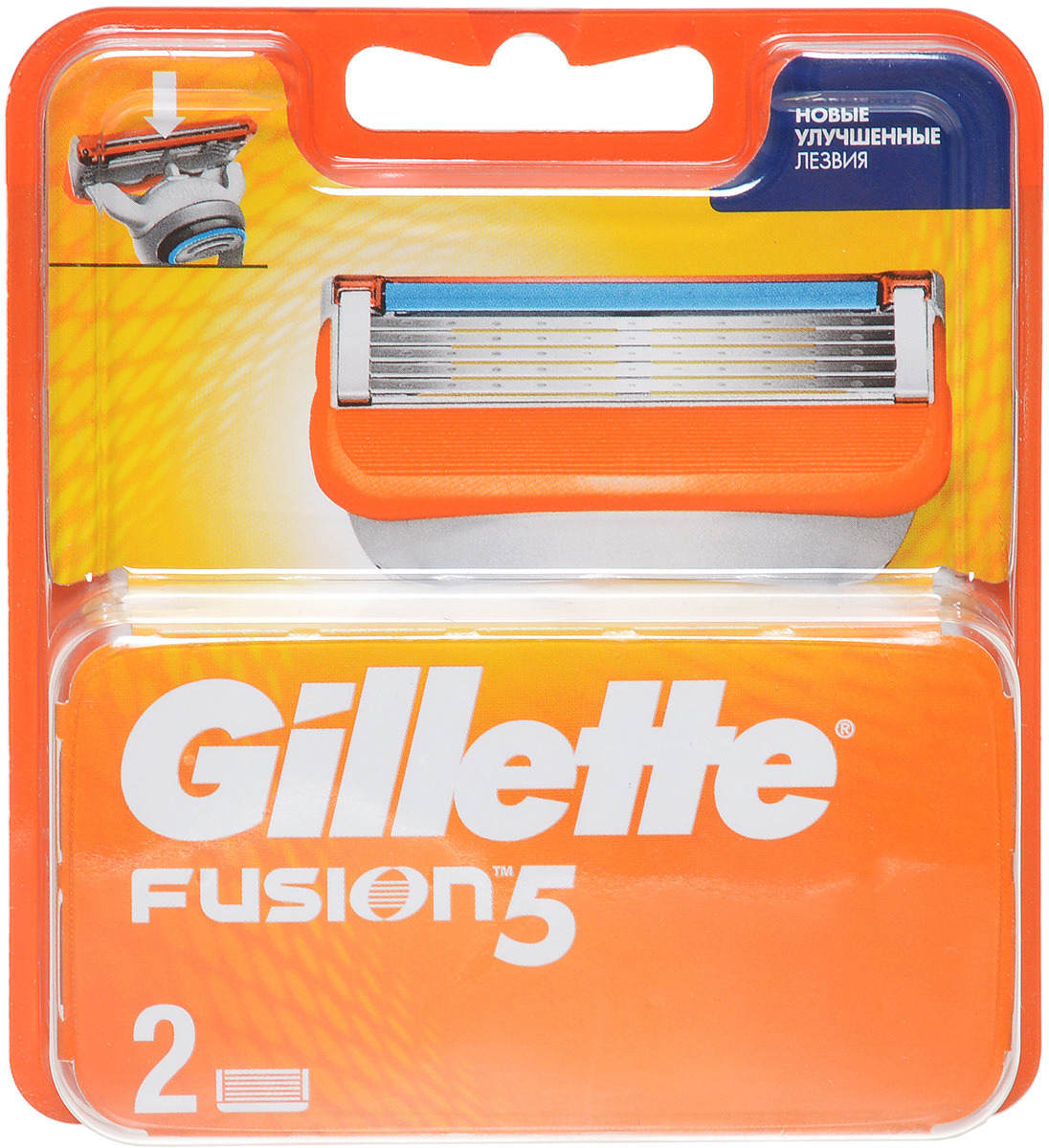Сменные Кассеты Для Мужской Бритвы Gillette Fusion5, 2 шт