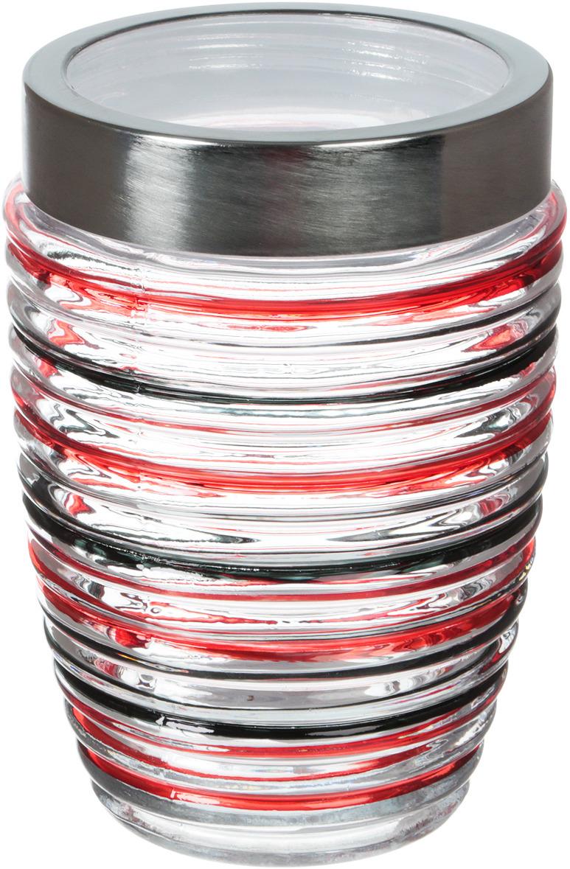 Банка для сыпучих продуктов Mayer & Boch, 27056, прозрачный, красный, черный, 1,2 л