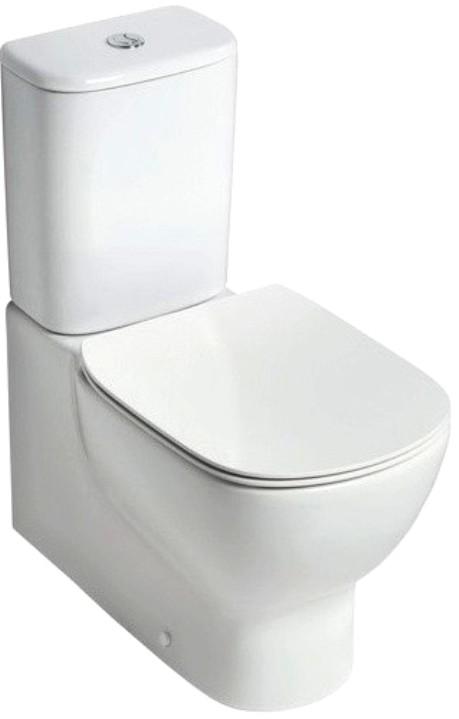 Унитаз Ideal Standard T008201, белый унитаз с бачком ideal standard tesi aquablade пристенный с сиденьем микролифт
