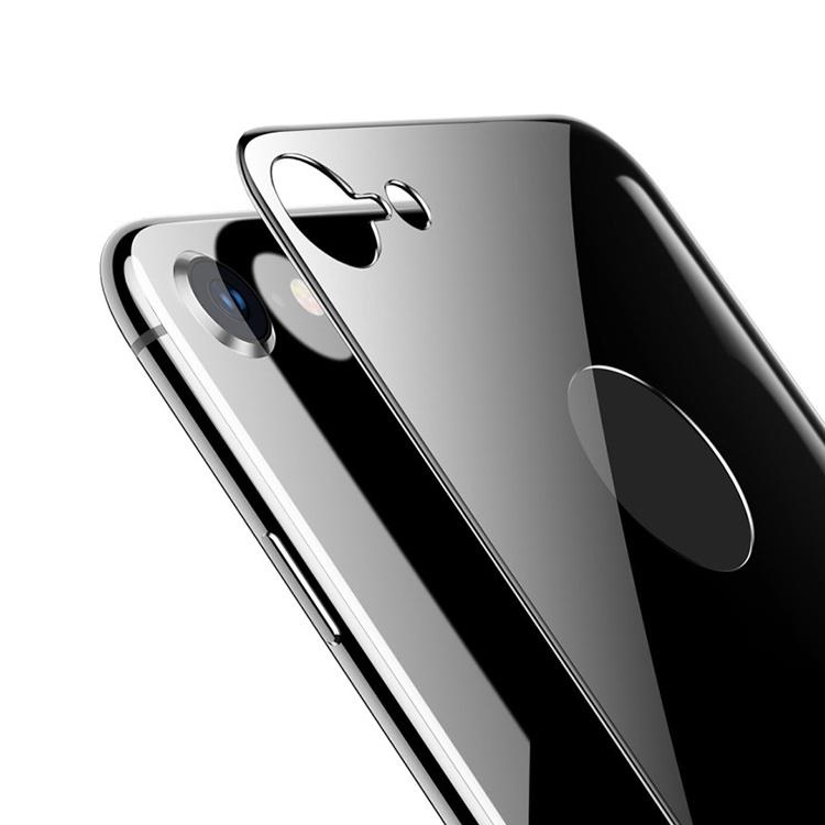 Защитное стекло Baseus 4D Tempered Back Glass SGAPIPH8N-4D0G для задней панели iPhone 8, серый