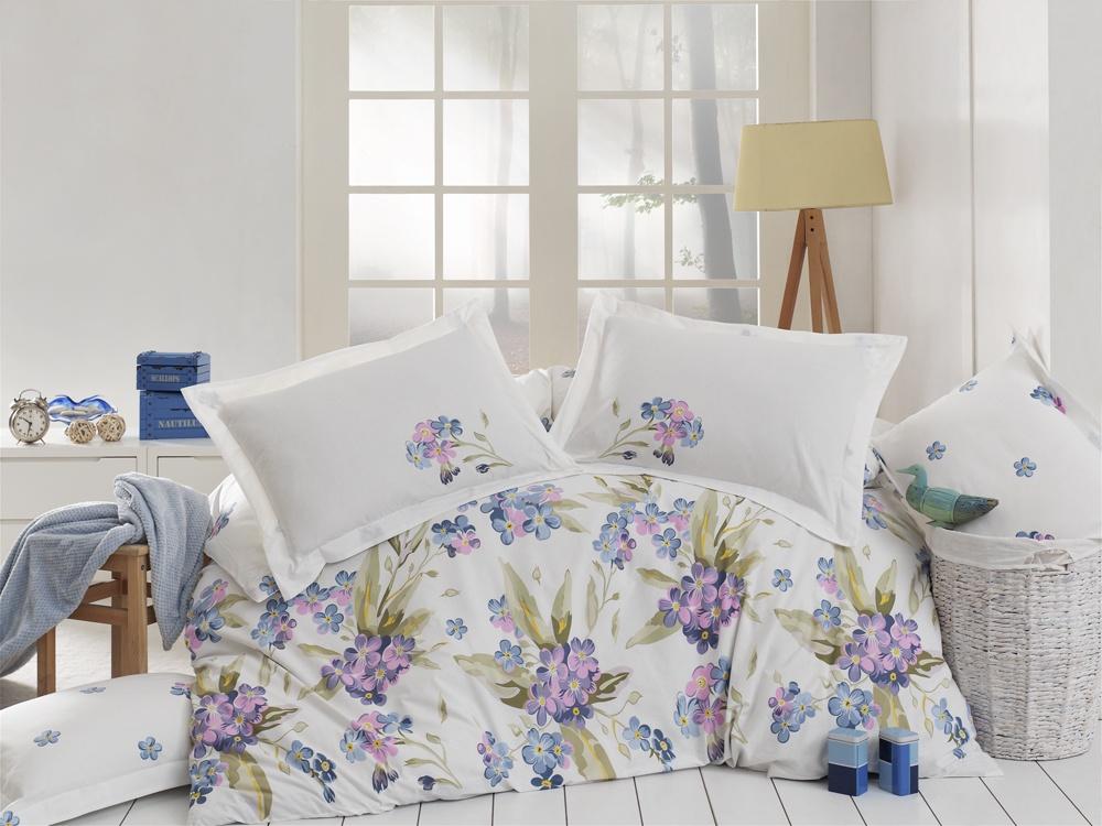 Комплект постельного белья VONALDI COKILDIS YASMINA MAVI ЕвроТКП-0027