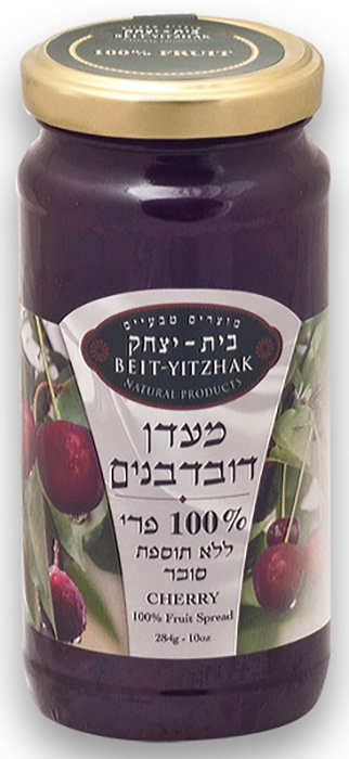 """Джем Natural Products Beit Yitzhak LTD «Вишня» 100% без сахара«Бейт Ицхак» 284г Стеклянная банка, 28402248Натуральный вишневый джем БЕЗ САХАРА. Кошерный продукт. Вкус лета в любое время года! Изготовлен по старинному израильскому рецепту. Не содержит консервантов, искусственных ароматизаторов, красителей. Отсутствуют компоненты из генетически модифицированных источников. Джем из вишни содержит витамины, фолиевую кислоту и железо, кальций и магний, пектин, полезный сахар, дубильные вещества и несколько полезных кислот. Во время термической обработки ягоды сохраняют свои полезные свойства, поэтому употребление данного джема не только не навредит фигуре, но и принесёт пользу. Преимущества джема """"Вишня"""" (100% без сахара): 100% фруктовые ингредиенты; Отсутствие сахара (только сахар содержащийся во фруктах); Приятная сладость и яркий фруктовый вкус; Подходит для диетического и диабетического питания. Яркий коктейль из пользы и вкуса, который способен поднять настроение! Такая плодово-ягодная паста выручит, когда хочется чего-то сладкого и одновременно фруктового, но не вредного для здоровья!"""
