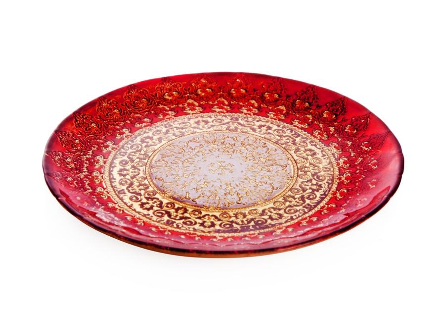 Тарелка АКСАМ-АКДЖАМ ПЛАМЯ ХЮРРЕМ, 17169/2, диаметр 21 см, без упаковки, красный украшения хюррем