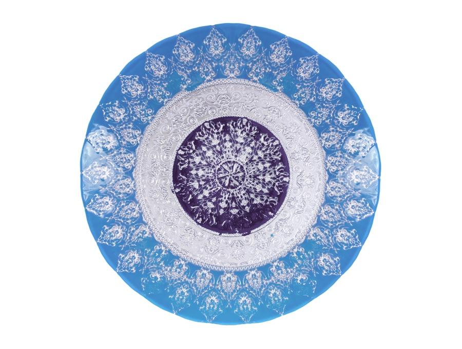 Тарелка АКСАМ-АКДЖАМ ХЮРРЕМ БИРЮЗА, 17170/1, диаметр 28 см, подарочная упаковка, бирюзовый украшения хюррем
