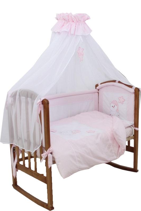 Комплект Котик Розовый 7 предметов борта со съемными чехлами 7060