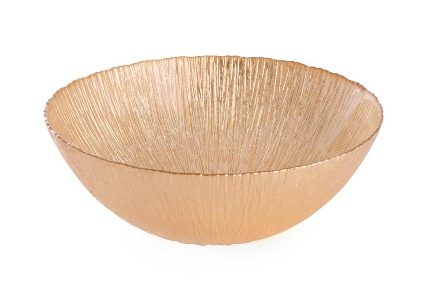 Блюдо АКСАМ-АКДЖАМ Глубокое ЛУННОЕ СИЯНИЕ, 17547/1, диаметр 25 см, без упаковки, золотой