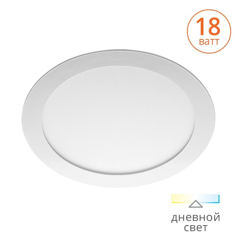 цена на Светодиодная панель WOLTA DLUS-18W-4K, белый