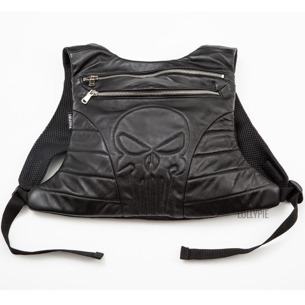Рюкзак Lollypie кожаный городской, черный
