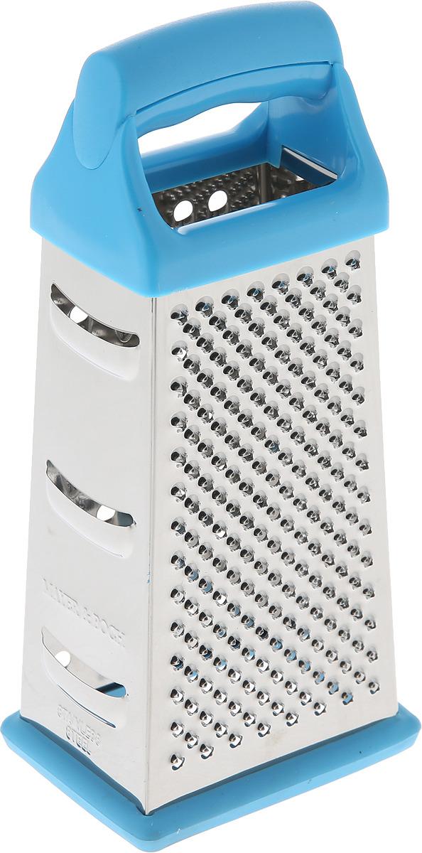 Терка Super Kristal, 4996, серебристый, голубой щетка универсальная super kristal с ручкой цвет синий 3487 2