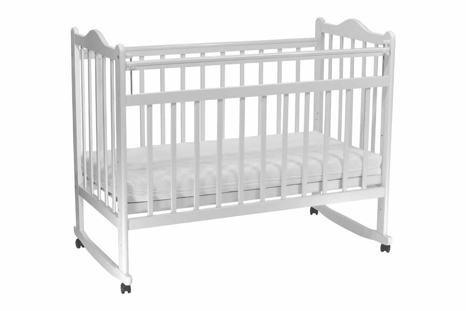 цена Детская кроватка Everflo Pali milk ES-001 онлайн в 2017 году