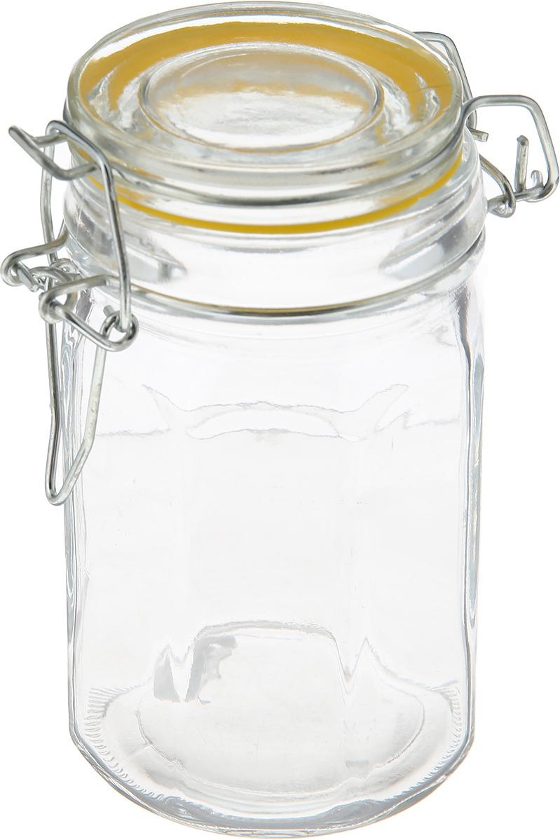 Банка для сыпучих продуктов Loraine, 28180, прозрачный, желтый, 250 мл банка для сыпучих продуктов loraine 28190 прозрачный 600 мл