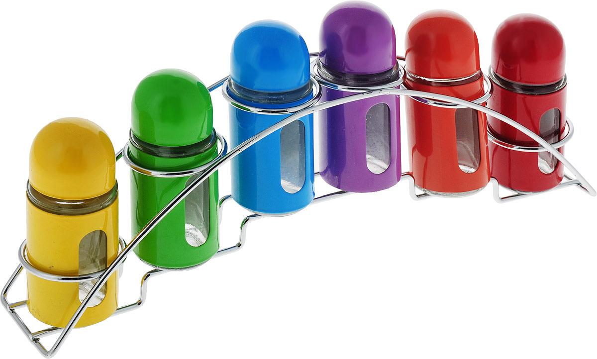 Набор для специй Mayer & Boch, на подставке, 27715, красный, желтый, зеленый, голубой, 6 предметов