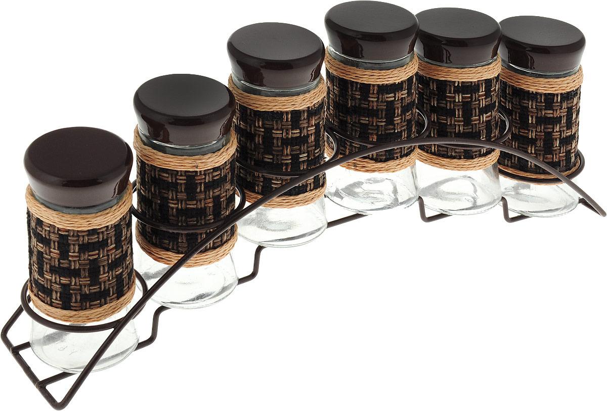 Набор для специй Mayer & Boch, на подставке, 28735, коричневый, 6 предметов