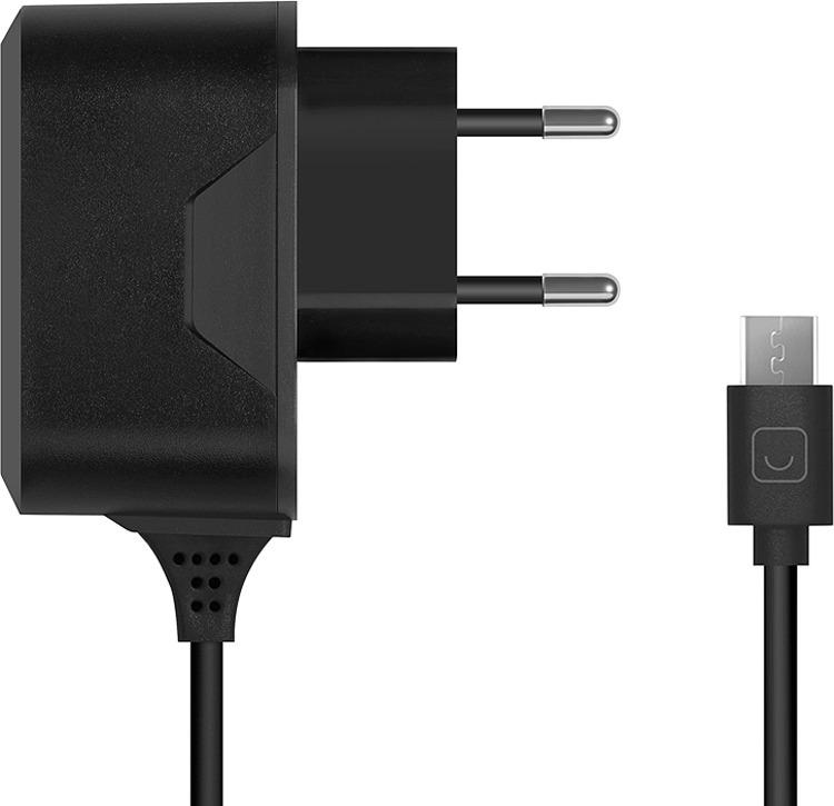 Сетевое зарядное устройство Prime Line 2302 + кабель micro USB, 1A, черный зарядное устройство зарядное устройство сетевое qtek s200 htc p3300 ainy 1a