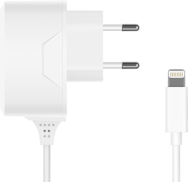 Сетевое зарядное устройство Prime Line 2307 + кабель Lightning, 2.1A, белый цена и фото