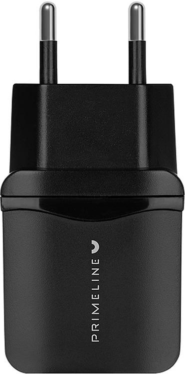 Сетевое зарядное устройство Prime Line 2325, 2.4A, черный сетевое зарядное устройство prime line mini usb 1а черный