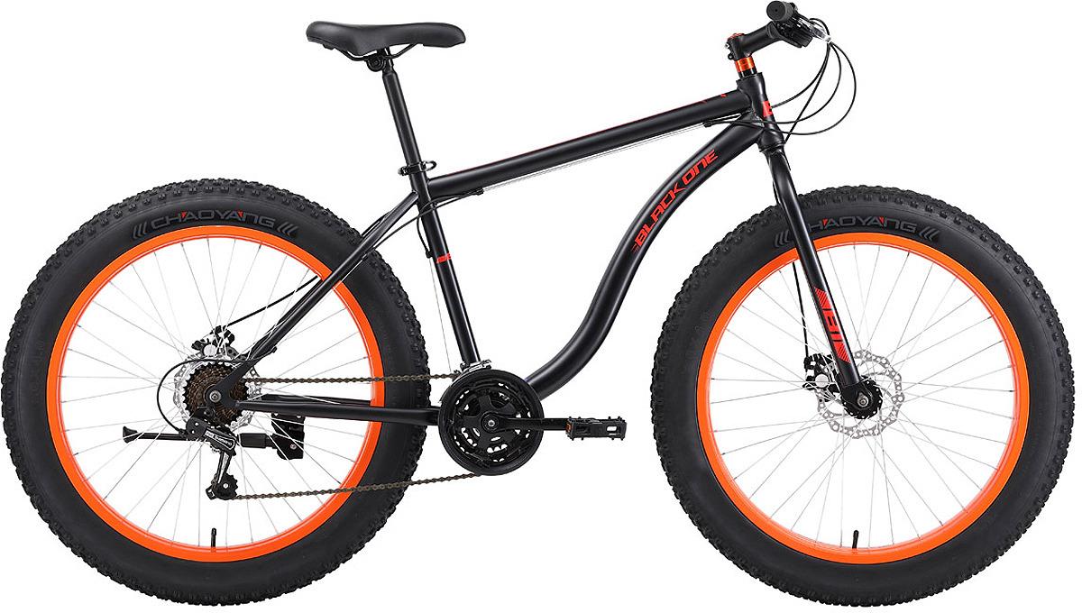 Велосипед горный (MTB) Black One Monster D, черный, оранжевый, диаметр колес 26, размер рамы 18
