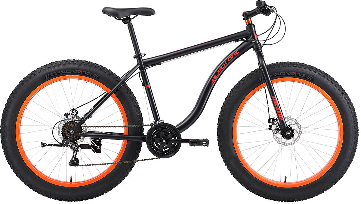 Велосипед горный (MTB) Black One Monster D, черный, оранжевый, диаметр колес 26, размер рамы 20