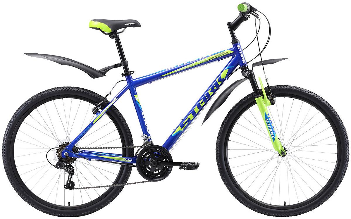 Велосипед кросс-кантри Stark'18 Respect V, синий, зеленый, голубой, диаметр колес 26, размер рамы 18