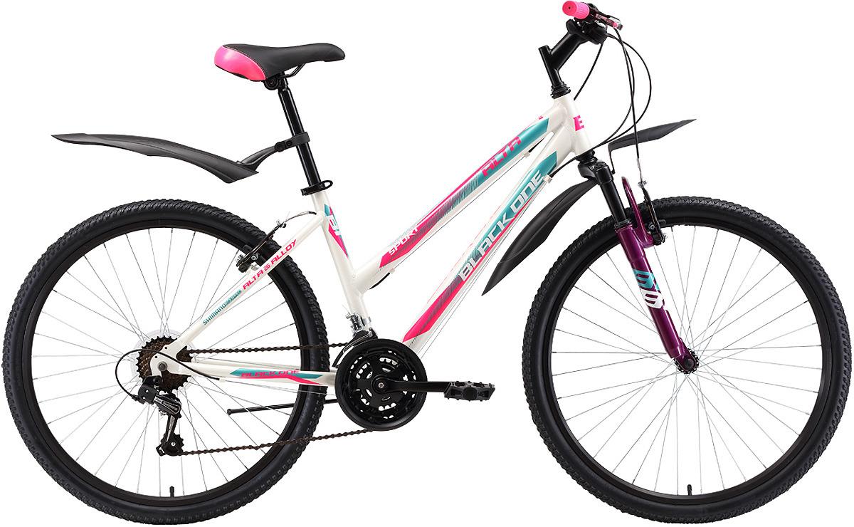 Велосипед городской Black One Alta, белый, розовый, голубой, диаметр колес 26