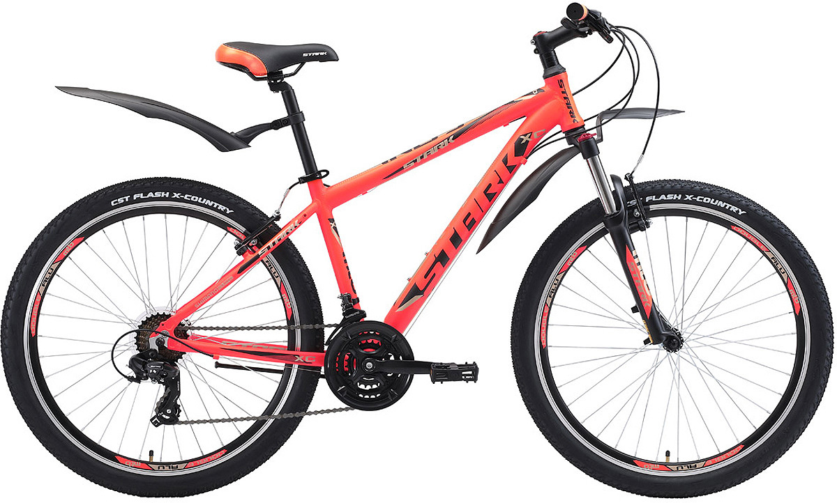 Велосипед кросс-кантри Stark'18 Indy V, оранжевый, черный, серый, диаметр колес 26, размер рамы 18