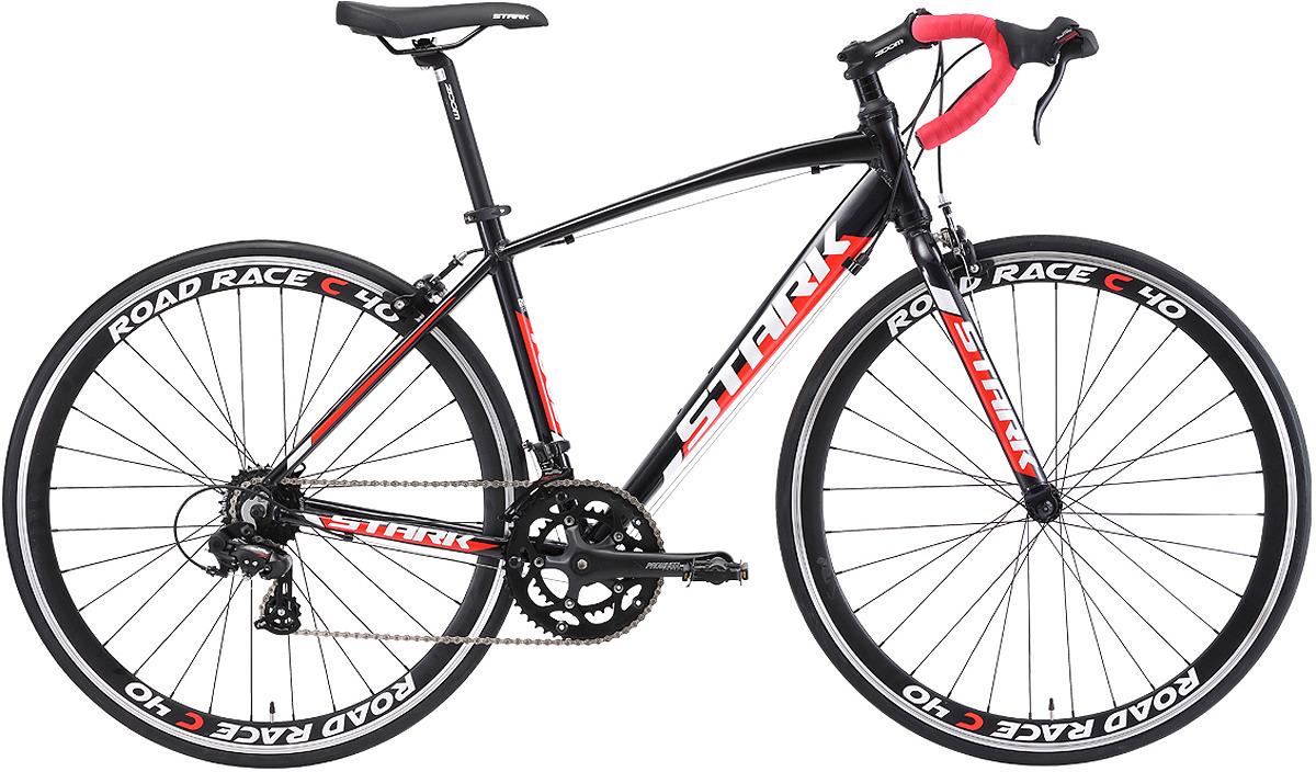 Велосипед шоссейный Stark'18 Peloton 700.1, черный, красный, белый, диаметр колес 28'', размер рамы 20