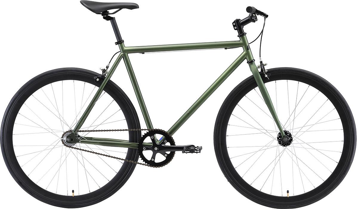 Велосипед гибрид Black One Urban 700, зеленый, черный, диаметр колес 28'', размер рамы 23 велосипед merida one sixty 8000 2018