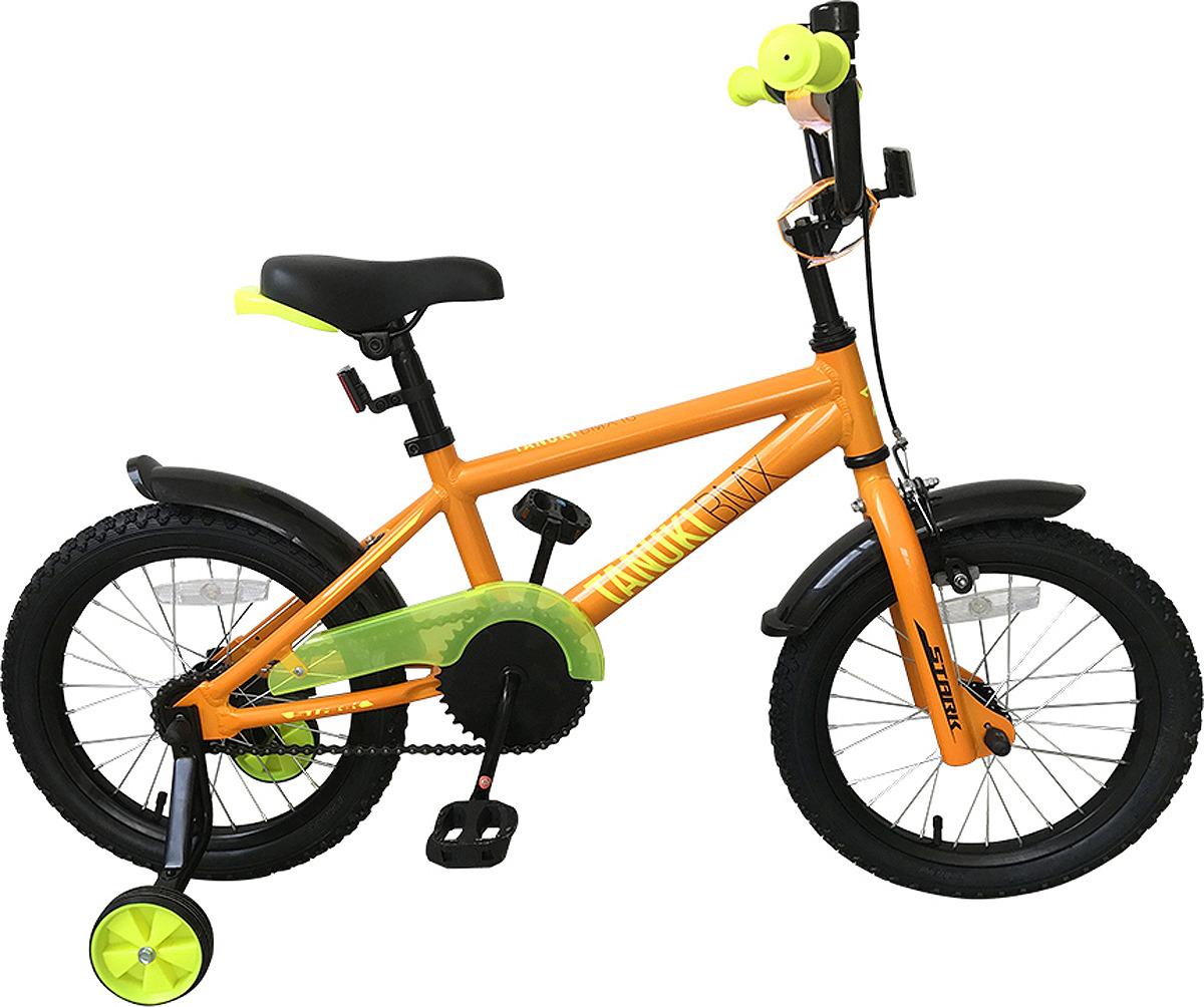 Велосипед детский Stark'19 Tanuki BMX, оранжевый, желтый, диаметр колес 16, размер рамы велосипед stark shooter 2 2018