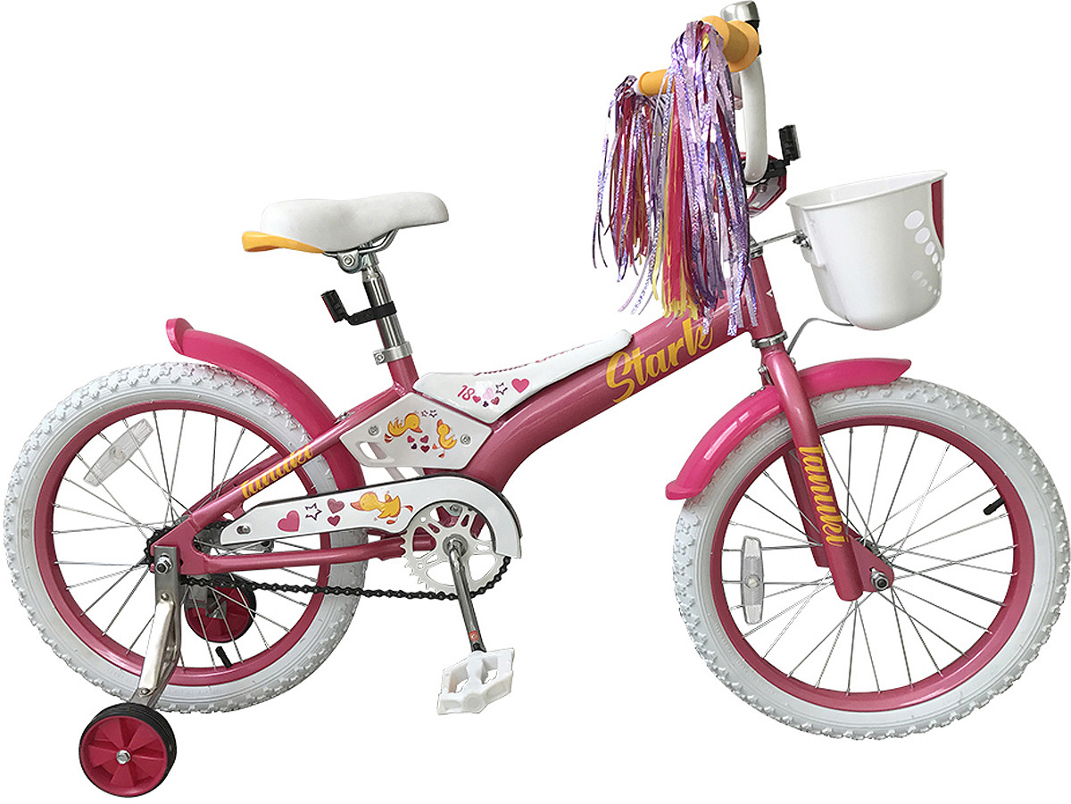 Велосипед детский Stark'19 Tanuki Girl, розовый, белый, диаметр колес 18